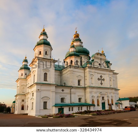The Trinity Cathedral in Chernigov, Ukraine - stock photo