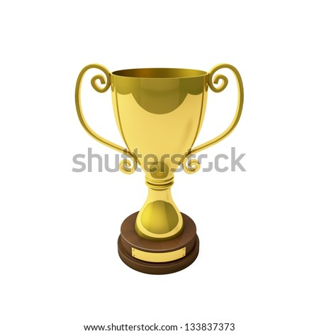 The trophy for one place is huge and showing everyone my success