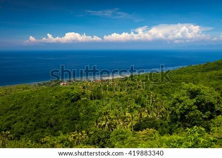 The tropical nature of the island Nusa Penida / Bali, Indonesia - stock photo