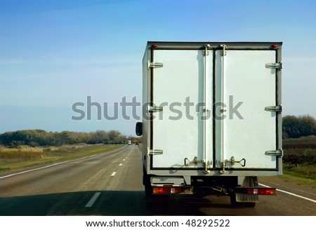 The truck on road. - stock photo