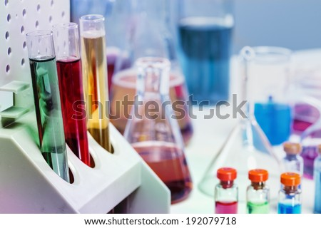 The tubes in the laboratory  - stock photo