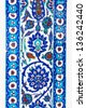 the Turkish ceramic tiles from Rustem Pasha Mosque, Istanbul - stock photo