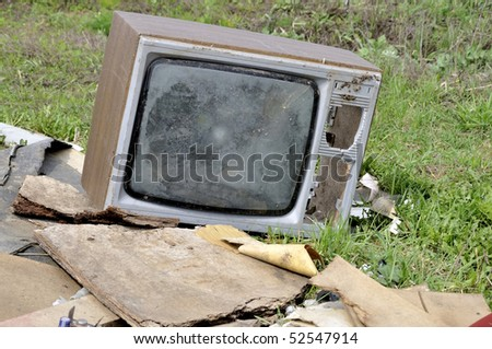 The TV on a dump