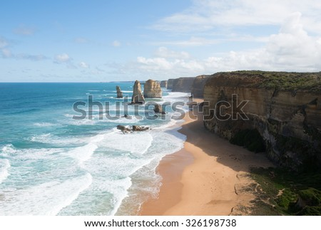 The Twelve Apostles, adjacent to the Great Ocean Road, Port Campbell National Park, Victoria, Australia