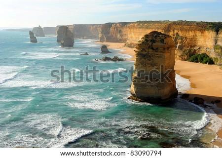 The twelve Apostles, Great Ocean Road, Australia - stock photo