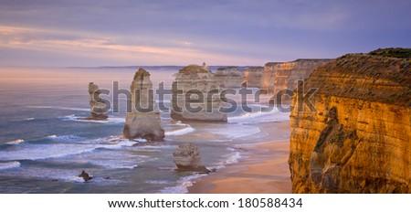 The Twelve Apostles, Great Ocean Road, Victoria - stock photo
