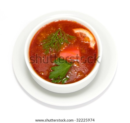 The Ukrainian red borsch
