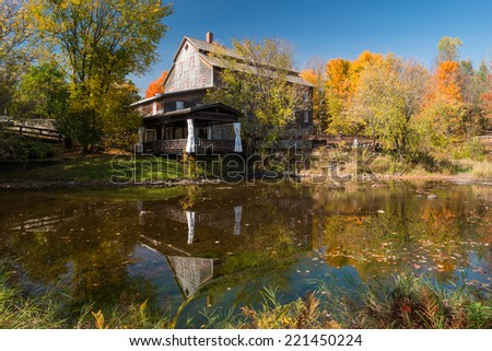The Ulverton woolen mill, Ulverton, Quebec, Canada - stock photo