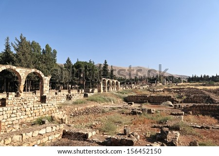 The Umayyad Ruins of Anjar, Lebanon