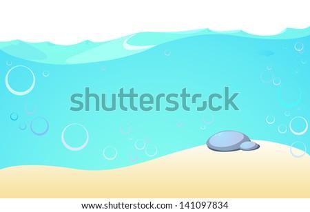 The underwater illustration for design - stock photo