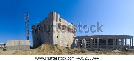 the unfinished atomic station, the thrown construction