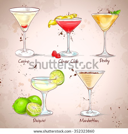 The Unforgettables Cocktail Set ,  - stock photo