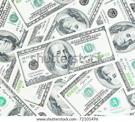 The United State a hundred dollar close up - stock photo
