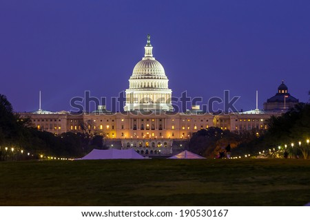 The United States Capitol building in Washington DC USA