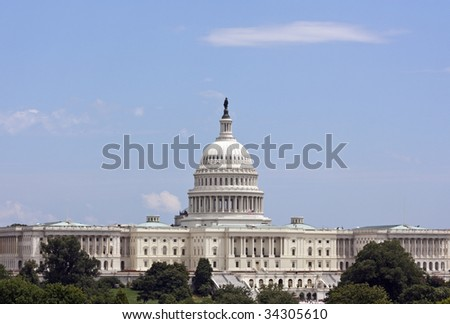 The United States Capitol in Washington DC