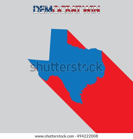 The United States Election Illustration for Texas