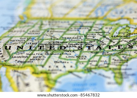 The United States Of America On The Map
