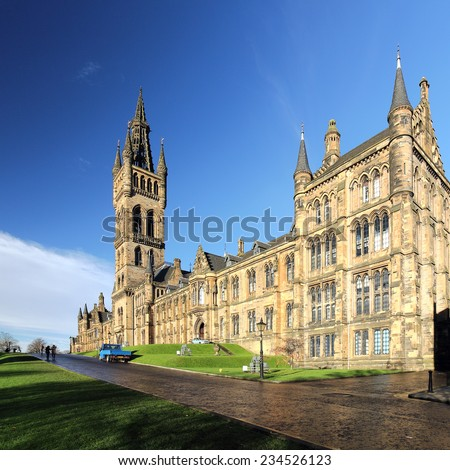 The University of Glasgow on a sunny autumn day.