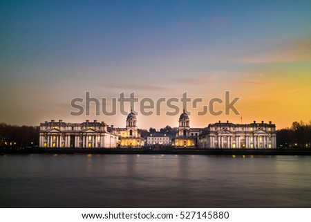 The university of Greenwich in twilight time