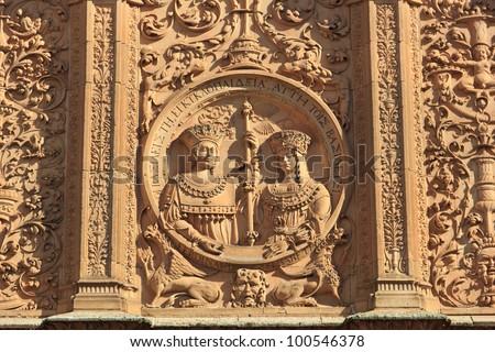 The University of Salamanca - Detail - stock photo