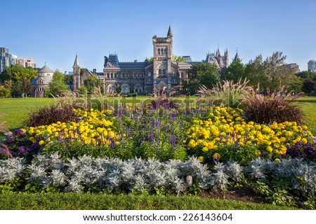The University of Toronto at early morning - stock photo
