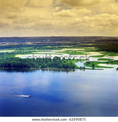 The upper Mississippi River - stock photo