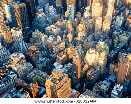 The urban landscape of New York City - stock photo