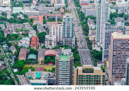 The urban landscape with a modern skyscrapers, Bangkok Thailand