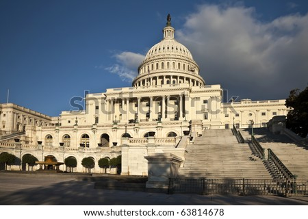 The US Capitol in Washington D.C. in the autumn - stock photo