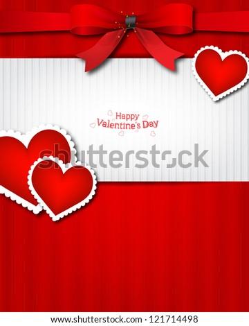 The Valentine's day. Invitation card - stock photo