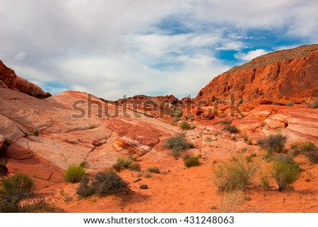 The Valley of Fire State Park, USA.