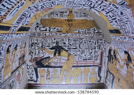 Egyptian hieroglyphics stock photos royalty free images for Ancient egyptian tomb decoration