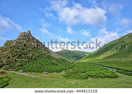 The Valley of the Rocks, Devon, England, UK.  - stock photo