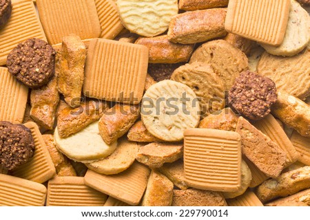 the variety of sweet cookies