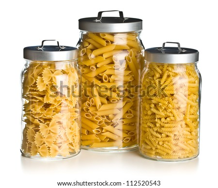 the various raw pasta in a glass jar  sc 1 st  Shutterstock & Various Raw Pasta Glass Jar Stock Photo (Royalty Free) 112520543 ...