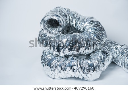 The ventilation pipe on a white background - stock photo