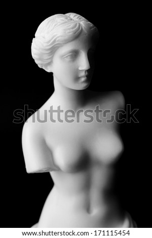 The Venus de Milo is a marble statue of the Hellenistic era, dates from around 100 BC - stock photo