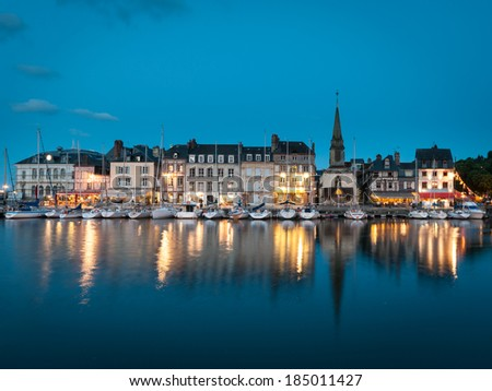 The Vieux Bassin at Honfleur, Normandy, France