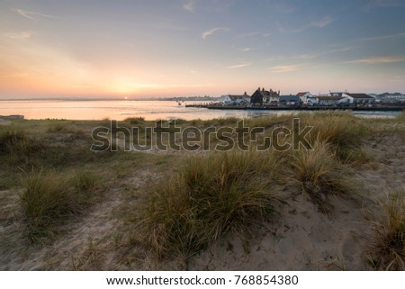The view across to Mudeford Quay in Dorset.