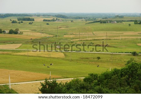 The View from Medvegalis Hillfort, Lithuania, Europe