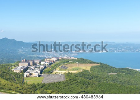 The view from the Jumonjibaru observatory