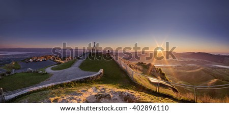 The view from the Mighty Te Mata Peak, New Zealand at dawn...