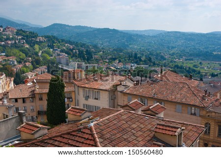 The view from the top of old Grasse, France.