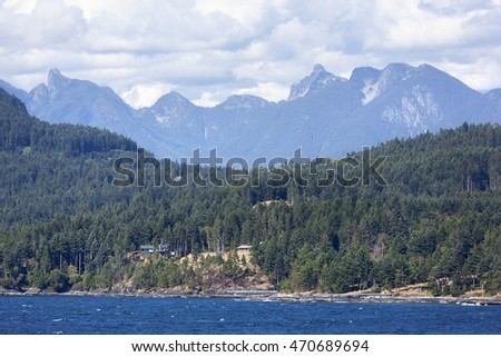 The view of British Columbia outside Vancouver (Canada).