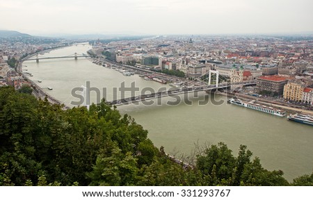 The view of Budapest.