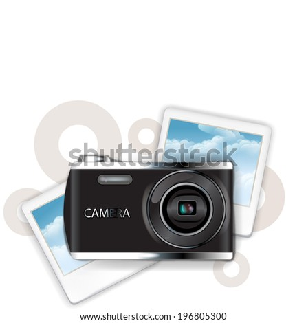 The view of camera with picture