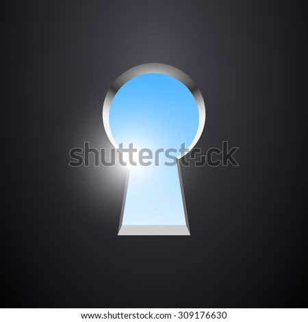 The view of the sky through the keyhole