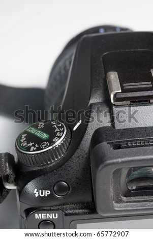 the viewfinder of a digital SLR camera - stock photo