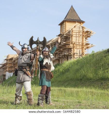 The vikings  - stock photo