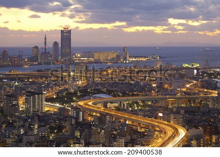 The Village Of Osaka Bay Area - stock photo